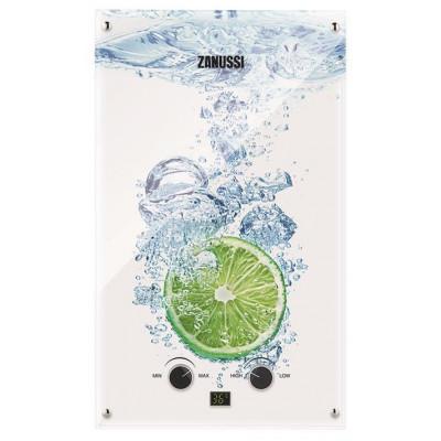 Газова колонка Zanussi GWH 10 Fonte Glass Glass Lime 10 л/хв., 20 кВт