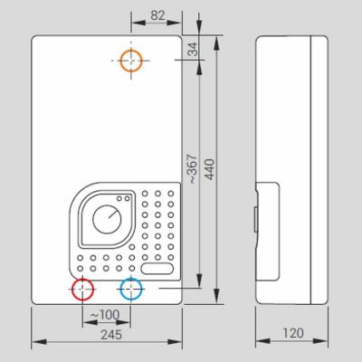 Проточний водонагрівач Kospel KDE-18 bonus (електронне управління)